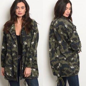 Jackets & Blazers - Camo Floral Jacket